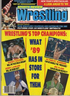 REVIEW WRESTLING FEBRUARY 1989 RIC FLAIR KERRY VON ERICH JERRY LAWLER