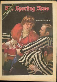 Hockey Violence Kareem Jerry Lucas Nicklaus Sporting News 3 25 1972