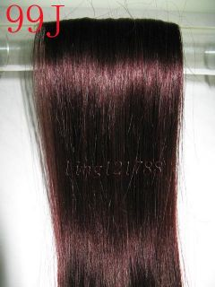 Ladys Remy 7pcs Clip in Asian Real Human Hair Extensions 16 18 9