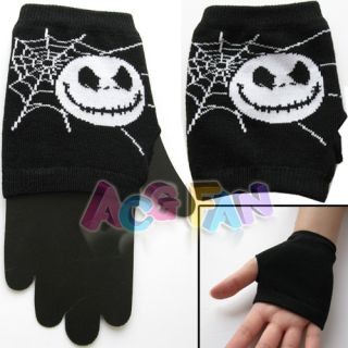 Cute Nightmare Before Xmas Jack Skellington Skull Warmer A Pair Gloves