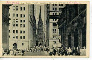 New York City Wall Street J P Morgan Building Postcard