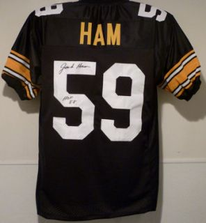 Jack Ham Autographed Signed Pittsburgh Steelers Black Size XL Jersey w