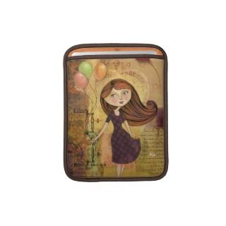 Balloon Girl Digital Collage iPad Sleeve