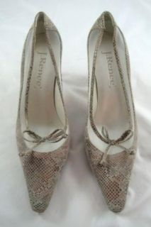 Renee Leather Suede Snakeskin Design Jenny Womens Pumps Size 7 5M