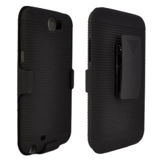 New Black Shell Holster Belt Clip Case Stand for Samsung Galaxy Note 2