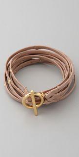 Gorjana Graham Triple Strand Leather Wrap Bracelet