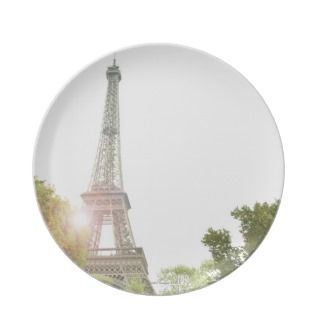 Eiffel Tower 2 Dinner Plates