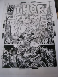 JACK KIRBY MIGHTY THOR MOLE MEN COVER COMIC ORIGINAL PRODUCTION ART