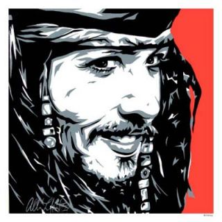 Captain Jack Disney Fine Art Lithograph by Allison Lefcort Mint