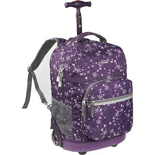 World Sunrise Rolling Backpack Garden Purple