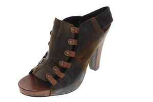 Donald J Pliner NEW Vishad Brown Vintage Slingback Open Toe Heels