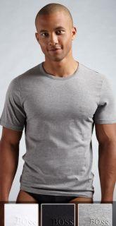 Mens Hugo ™ Boss 3 Pack Cotton T Shirt Crew Neck Black Grey White s