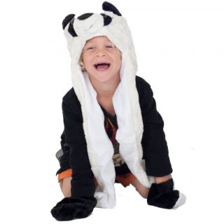 Childrens Warm Winter Scarf Cozy Plush Animal Hat Kids Faux Fur