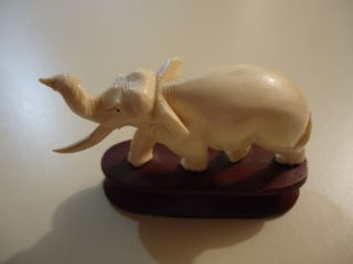 Vintage Faux Ivory Elephant Chipped