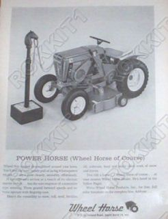 1964 Wheel Horse Tractor Ad