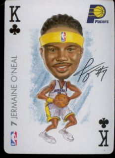 JERMAINE ONEAL   Indiana Pacers   NBA Playing Card   2004 BIG HEAD