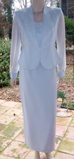 NITES 10p MOTHER BRIDE BLUE BEAUTIFUL BEADs DRESS JACKET SKIRT