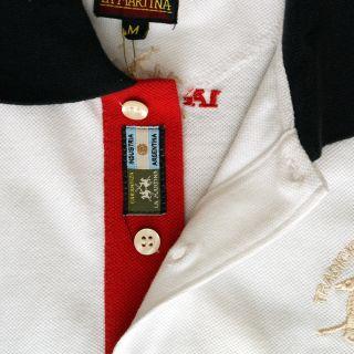 New La Martina White England Short Sleeve Polo T Shirt Genuine RRP