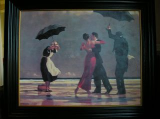 Jack Vettriano Black Framed Art The Singing Butler 34 x 40