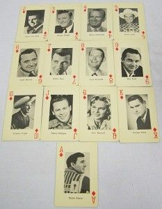 COUNTRY MUSIC STARS PLAYING CARDS Johnny Cash Hank Williams Patsy