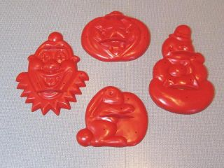 50s Aunt Chicks Complete Set Red Cookie Cutters Happy Days w Box
