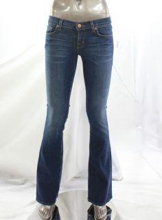 Brand New Womens Jeans Low Rise Stonewash Denim Bootcut Size 24