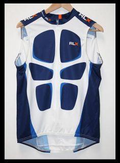 Mens RL Ralph Lauren Polo Sport Cycling Bike Jersey Retro Large
