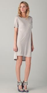 T by Alexander Wang Classic Boat Neck Pocket Dress