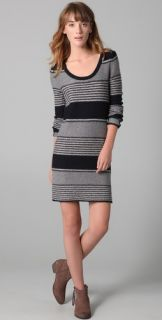 Splendid Patchwork Striped Sweater Dress