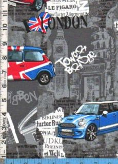 Benartex UK English Union Jack London Mini Coopers Big Ben