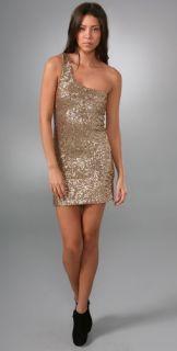 alice + olivia One Shoulder Sequin Dress