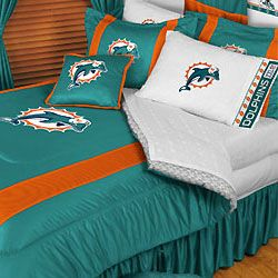NFL Miami Dolphins Football Twin Bedding Comforter Set