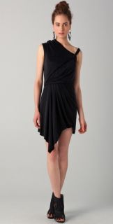 Helmut Lang Asymmetrical Draped Dress