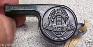 Vintage Sherry TV Dragnet Official Jack Webb Whistle