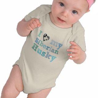 heart) my Siberian Husky organic baby Shirt