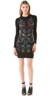 McQ   Alexander McQueen Long Sleeve Printed Dress