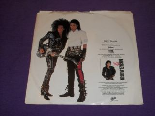 Michael Jackson Dirty Diana RARE 7 45 RPM Vinyl Picture Sleeve Steve