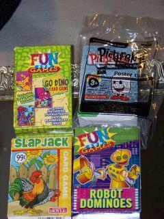 PICTUREKA Sonic Edition, Go Dino Card game, Slap Jack Robot Dominoes