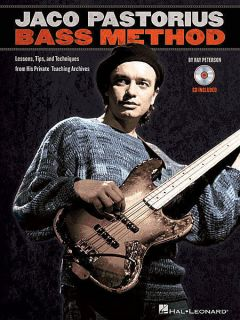 Jaco Pastorius Bass Method Lessons Tips Book and CD