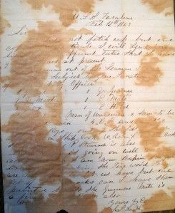 1863 USS Farallones Charles Smith Letter Civil War Wi 12th Inf Recruit