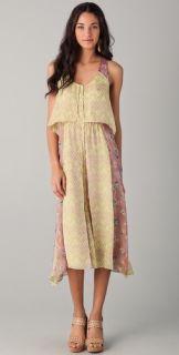 Rebecca Taylor Tile Print Midi Dress