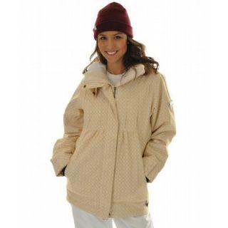 Roxy Tram Ski Snowboard Jacket Dandelion White Womens