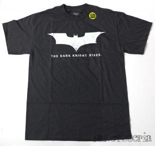 Batman Dark Knight Rises Movie Glow in The Dark T Shirt Printed Gray