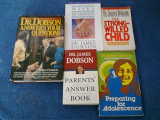 Dr. JAMES DOBSON USED MIXED LOT HARDBACK PAPERBACK BOOKS on Marriage
