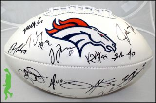2012 DENVER BRONCOS TEAM SIGNED AUTO FOOTBALL BALL D.J. WILLIAMS JOHN
