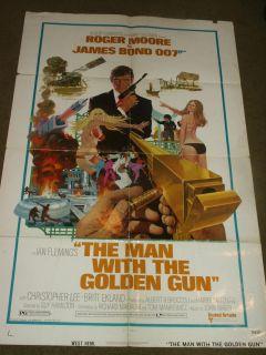 JAMES BOND THE MAN WITH THE GOLDEN GUN ROGER MOORE 1974 ORIGINAL