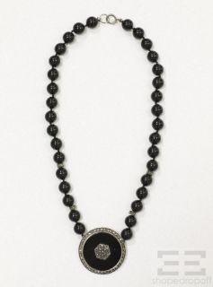 Judith Jack Sterling Silver, Black Onyx & Marcasite Beaded Pendant
