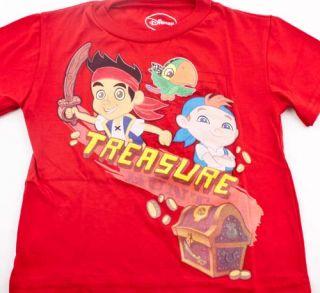 Disney Jake and e Never Land Pirates Boys T Shirt Sz 2T 3T 4T Skully