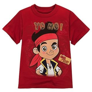 Jake and The Never Land Pirate Boys Red T Tee Shirt New