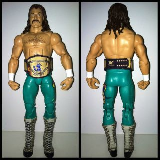 WWE Mattel Jake the Snake Custom IC belt Wrestling Action Figure WWF